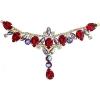 Crystal Motifs T-shape 17x8.5cm Red Aurora Borealis/gold